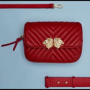 ZARA RED BELT BAG